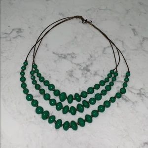 Green Layered Necklace